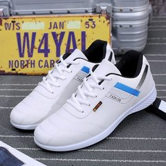 The new business casual men`s shoes for spring 2018, the Korean version of outdoor sports shoes with white 39