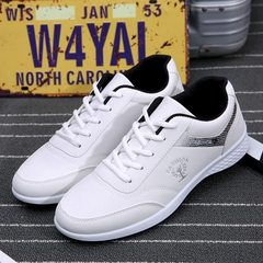 Spring 2018 new business casual men`s shoes daily light travel shoes outdoor running shoes manufactu white 39