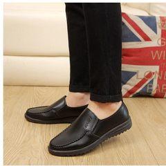 New single season single shoe men business suit leather shoes with low-top casual men`s shoes daily  black 38