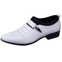 Cross-border business casual shoes for autumn business casual men`s shoes British high fashion shoes white 38