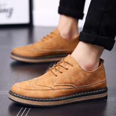 Spring new men`s casual shoes men`s shoes brock men`s wear with British fashion trend 2001 Yellow 2001 39