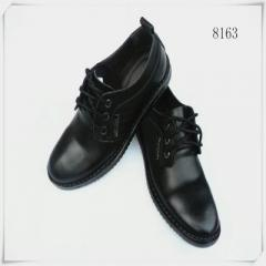 Men`s leather Korean version of British business casual black brown leather shoes male manufacturers black 38