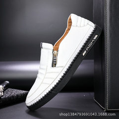 Autumn and winter new style cotton shoes with soft leather soles and soft surface men`s casual shoes white 38