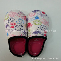 Diving materials slippers manufacturer custom-made indoor slippers diving materials slippers autumn  red 34
