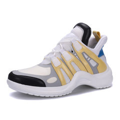 Ins super popular shoes 2018 new sports shoes ulzzang harajuku shoes breathable little white shoes w yellow 35