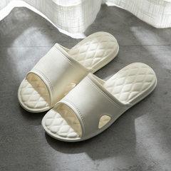 2018 men`s and women`s bathroom slippers thickened EVA anti-skid super soft home slippers tasteless  white 240 (for 37-38)