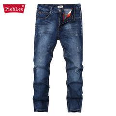 Men`s worn-out jeans for autumn men`s wear and tear men`s casual jeans for men`s Korean manufacturer Deep blue 28