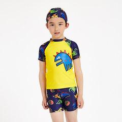 Children`s sun protection clothing children`s swimsuit surfing suit cartoon girls swimsuit manufactu 2517004-2 8 y / 100/110