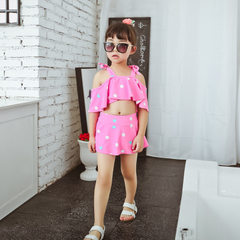Baby princess swimsuit children`s swimsuit children`s swimsuit little middle child big child lovely  pink M (10 to 15 kg)