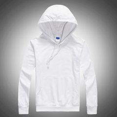 薄款连帽卫衣定制空白卫衣 纯色 现货长袖工作服广告外套 白色 S