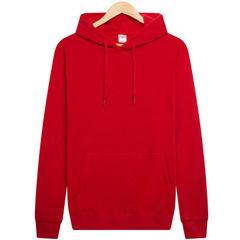 新款男式空白卫衣 纯色抓绒套头卫衣热转印工厂批发 多色可选 红色 M