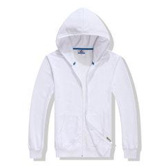 LOGO印制工作服外套免费设计卫衣定做来图定做班服DIY情侣卫衣 白色 S