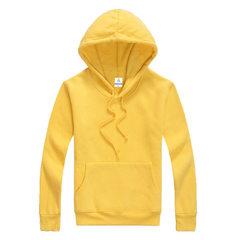 来图定做定制班服工作服情侣卫衣定做卫衣LOGO设计免费设计DIY 黄色 S