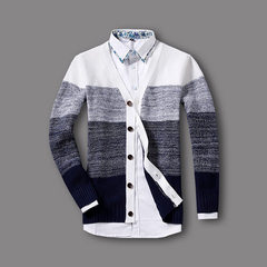 The new men`s sweater is fashionable and slim in spring 2017 white m
