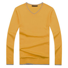In the autumn and winter of 2017, we will try our best to buy men`s pure color and thin style sweate yellow m