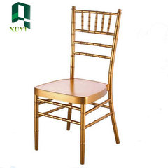 Manufacturer customized high-quality metal gold white bamboo chair european-style dining chair outdo golden