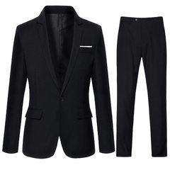 Men`s suits business men`s suits business men`s suits business men`s suits Korean version business s 302 black suit 165 / M
