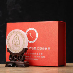 White crystal gilt gold buddhist supplies amitabha Buddha statue of a piece of handicraft k9