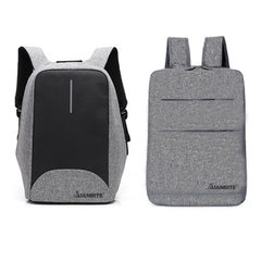 Manufacturer customized backpack men`s and women`s leisure travel backpack high-quality nylon waterp Space grey suits are on sale 16 inches