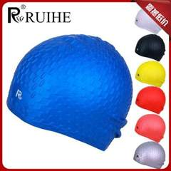 The manufacturer authorizes the genuine product rui and the swimming cap silica gel drop swimming ca Lake blue