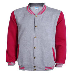 Wholesale baseball uniforms cardigans blank baseball uniforms couples wear baseball uniforms to cust Grey + red wine sleeves s.