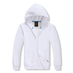 Autumn and winter new products weiyi men hoodie sweater wool loop zipper European and American sport white s.