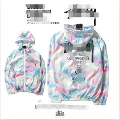 Tide men`s fashion base 2016 autumn tie-dyed lovers cotton color lovers windbreaker hats Graph coloring xl