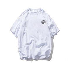 T-shirt men`s short-sleeved clothes body T-shirt style T-shirt base shirt fashion brand half-sleeve  white s.