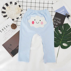 2018 spring new Korean version of children`s big fart pants for boys and girls trousers for infants  Blue, the clouds 73cm-100cm/1 hand 4 pieces need to be photographed 4 pieces