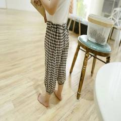 Children`s spring 2018 checked cotton and linen trousers for children`s wear Coffee, 70 cm