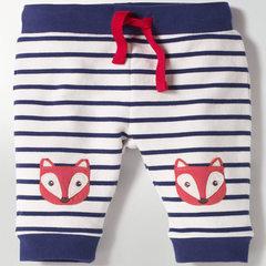 Autumn 2018 children`s trousers brand source cotton trousers autumn and winter children`s comfortabl Purplish blue stripes Whole hand wholesale (primary 6 pieces)