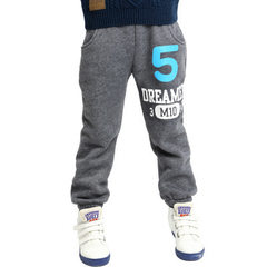 Winter girls thickened cotton trousers no. 5 Korean version children`s trousers with fleece pants fo gray 110 cm