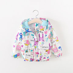 Spring and autumn children`s graffiti jackets for boys and girls, summer sun-sun-sun-sun-sun-sun-pro graffiti (90-130 cm) 1 hand 5 pieces