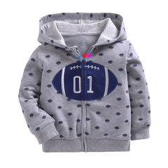 Autumn winter new baby zipper jacket baby hooded coat pure cotton double layer small coat batch T816 The whole hand wholesale