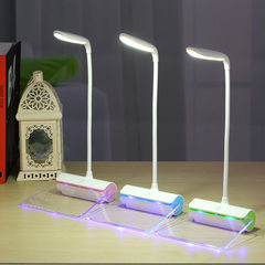 New message fluorescent board touch small night light desk student eye protection desk lamp desk lam blue 120 * 148 * 310 mm