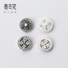 Silver accessories wholesale S925 silver cross vajray-vajray-vajray-pestle wheel isolation bead DIY  1 #