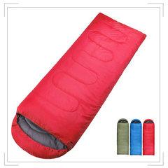 信封睡袋户外野营旅行春夏季睡袋家居自驾午休露营 支持一件代发 红 (180+30)*75CM(cm)