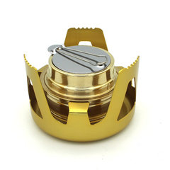 Outdoor aurora vaporized alcohol stove head outdoor camping air - proof portable alcohol stove set golden