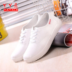 The new candy-colored canvas shoes of spring and summer are a substitute for the casual and fashiona White lace 35