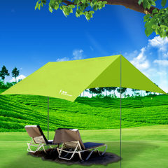 Outdoor manufacturers direct marketing large awning sun protection awning shade tent camping awning  red awning