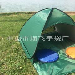 Tent manufacturers direct high quality folding beach tents can be printed LOGO fully automatic tents green double