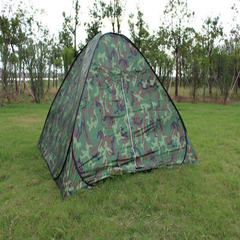 Outdoor military green camouflage automatic steel wire tent | outdoor camping tent supplies, open on camouflage Three or four people