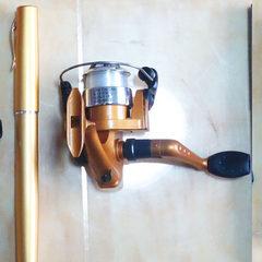 Yuyao yilong 1M spinning wheel pen fishing rod, gift fishing rod, ice fishing rod, pocket fishing ro golden 100 cm