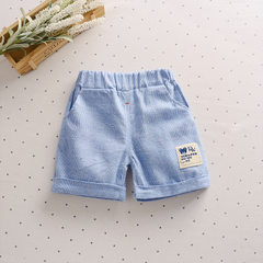 2018 mufu rui middle school boys and girls cotton and linen shorts wholesale children`s pants childr B single 01/ striped shorts 80 - S