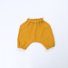 GDKIDS children children`s wear 18 summer Korean version of children`s crotch trousers for children  yellow 80 cm