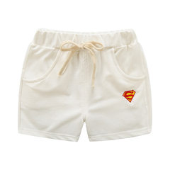 2018 boys and girls beach pants summer new children`s wear half pants children`s sports shorts hot p white 90 cm
