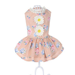 2017 new pet skirt sunflowers dog clothes wholesale dog clothing spring and summer clothing pink 8 / XS