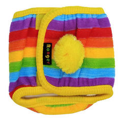 Factory direct selling pet gift to take the male dog courtesy to take the dog hair period pants cour The rainbow stripe s.