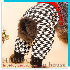 Factory direct sale fashion hundred take dog pants warm pants clothes teddy bear puppy pet autumn wi Brown polka dot thermal pants S (flat waist circumference 36cm) can be adjusted