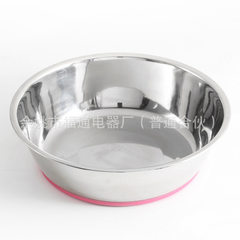 Non-skid stainless steel dog bowl red